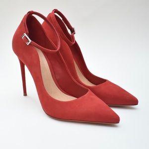 Schutz | Thaynara Pointed Toe Ankle Strap Pump Red